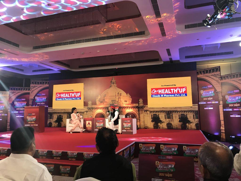 Rubika Liyaquat with Hon'ble Ex-CM, UttarPradesh @ABP event