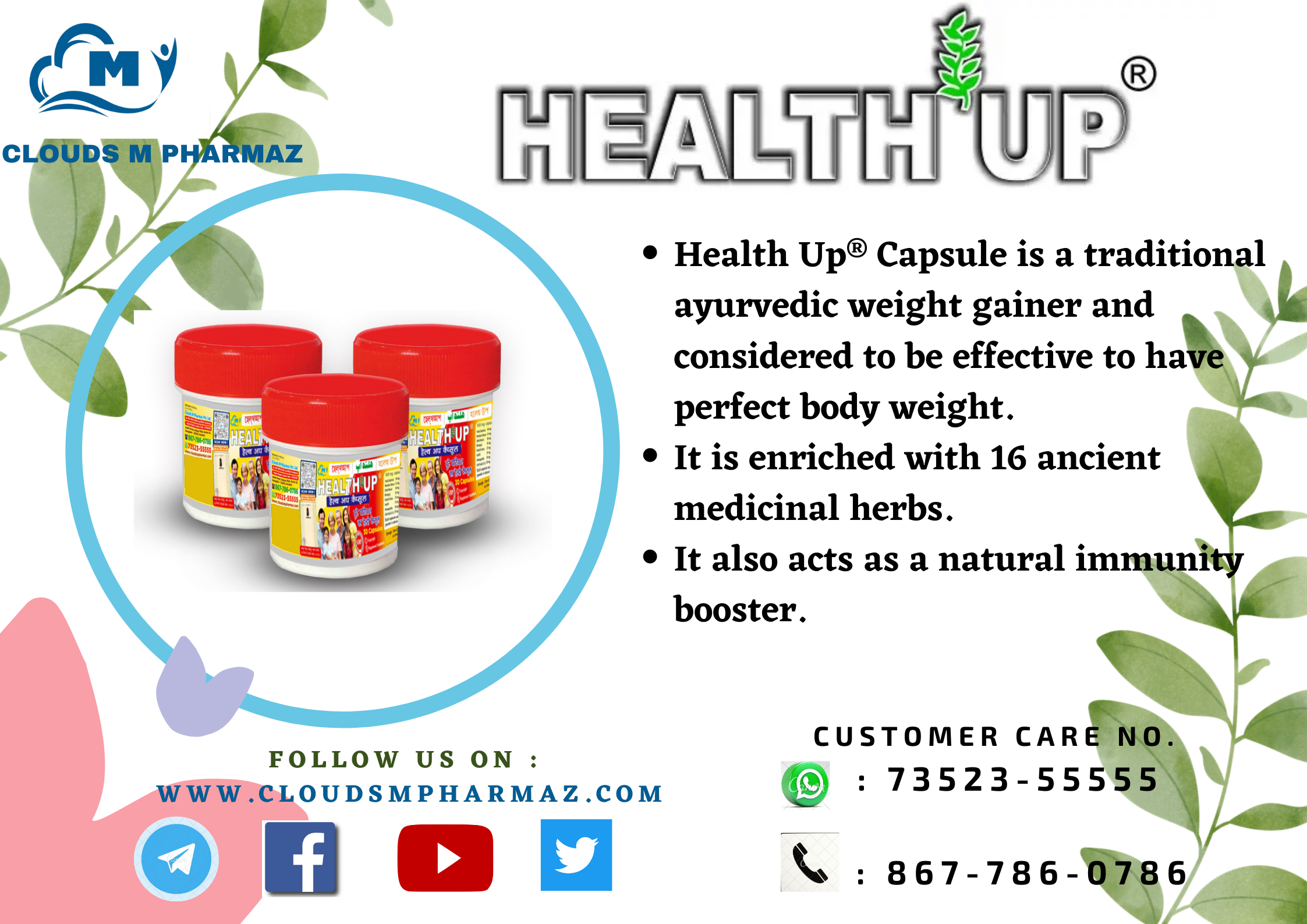 Read more about the article INGREDIENTS USED IN HEALTH UP® CAPSULE